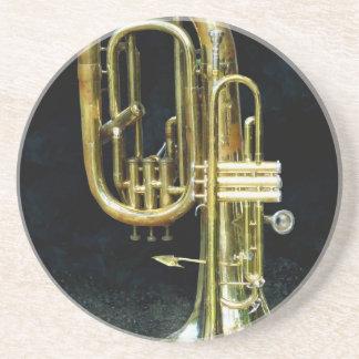 Trompeta y tuba posavasos manualidades
