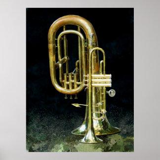 Trompeta y tuba póster