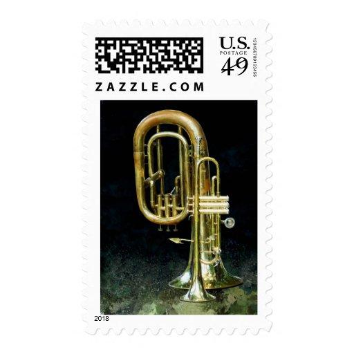 Trompeta y tuba sellos