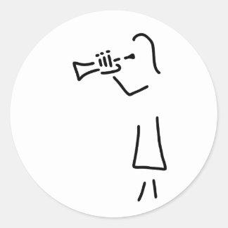 trompeter more blechblaeser classic round sticker