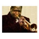 Trompetista del jazz postal