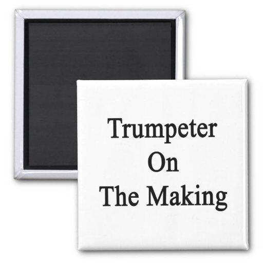 Trompetista en la fabricación iman de frigorífico