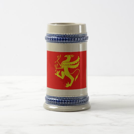 Troms flag beer stein