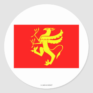Troms flag classic round sticker