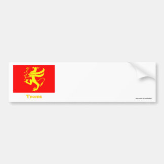 Troms flag with name bumper sticker