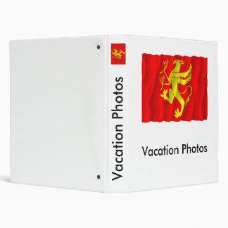 Troms waving flag vinyl binder