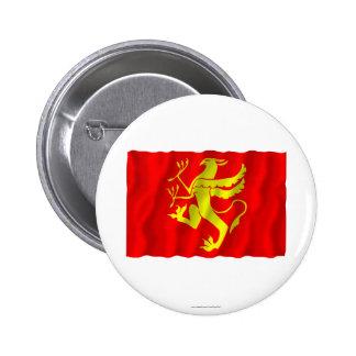 Troms waving flag 2 inch round button