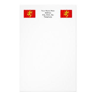 Troms waving flag stationery