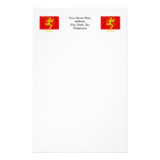 Troms waving flag with name stationery
