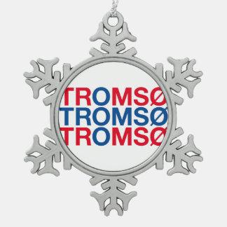 TROMSO SNOWFLAKE PEWTER CHRISTMAS ORNAMENT