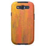 Tronco de árbol anaranjado abstracto galaxy s3 carcasas