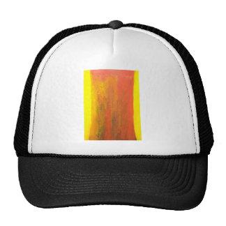 Tronco de árbol anaranjado abstracto gorros