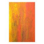 Tronco de árbol anaranjado abstracto papelería personalizada