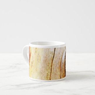 Tronco de árbol con los nudos tazita espresso