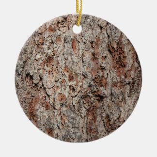 Tronco de árbol imperecedero adorno navideño redondo de cerámica