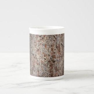 Tronco de árbol imperecedero taza de porcelana