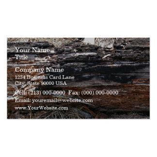 Tronco de árbol muerto que miente en la tierra tarjetas de visita