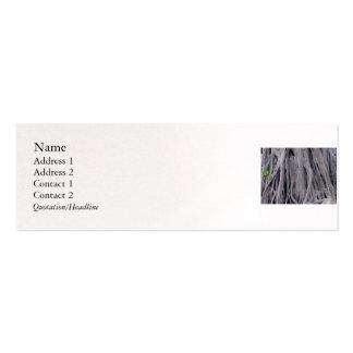 Tronco de baniano tarjetas de visita