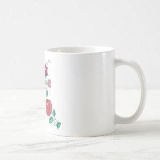 Tronco de la flor de Kalocsai Taza Básica Blanca