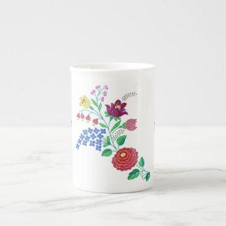 Tronco de la flor de Kalocsai Taza De Porcelana