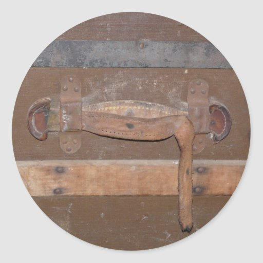 Tronco de madera del vintage etiquetas redondas