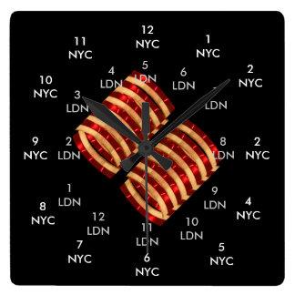 TRONCO de Reino Unido los E.E.U.U. NYC Londres Reloj Cuadrado