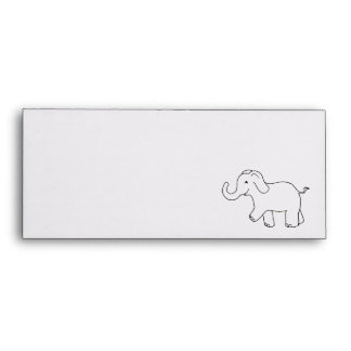 Tronco del elefante encima del arte simple lindo sobres