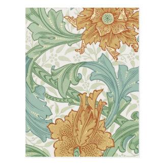 Tronco del estampado de flores de William Morris Postales