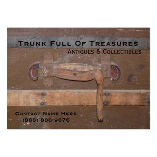 Tronco del vintage para las antigüedades y los col plantillas de tarjetas de visita