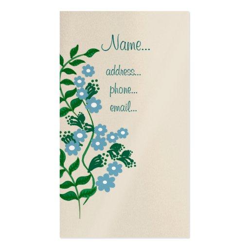 tronco floral tarjetas personales