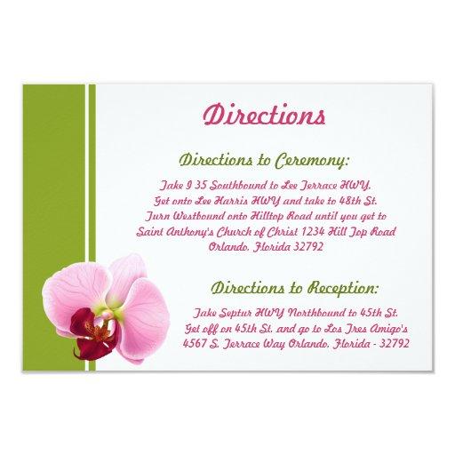 tronco largo Flowe de la orquídea del rosa de la Comunicado Personalizado