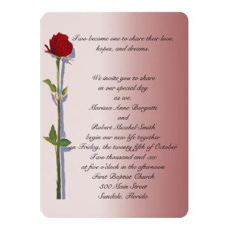 Tronco largo subió casando invitaciones invitación 12,7 x 17,8 cm