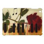 Tronco largo subió, llaves del piano y notas music iPad mini cárcasas