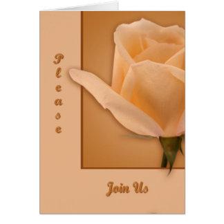 Tronco largo subió tarjeta de felicitación