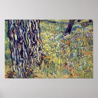 Troncos de árbol de Vincent van Gogh Póster