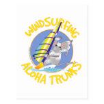 Troncos de la hawaiana Windsurfing Tarjetas Postales