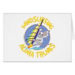 Troncos de la hawaiana Windsurfing Tarjetón