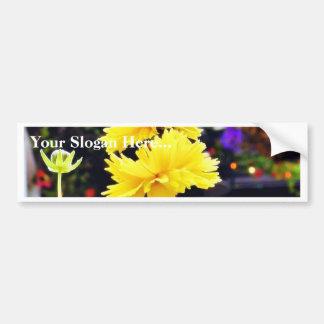 Troncos de los brotes de flores pegatina para auto