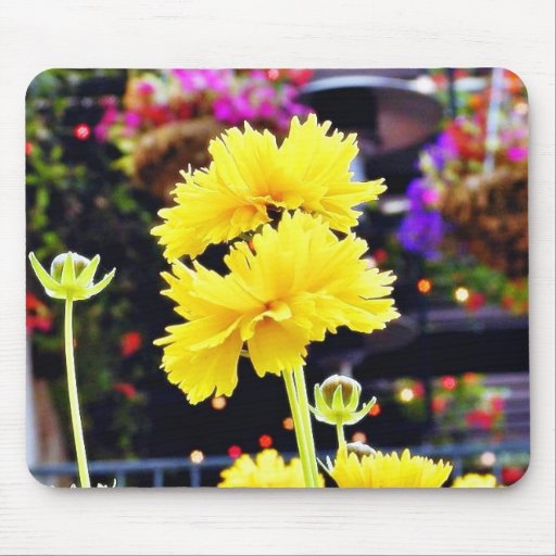 Troncos de los brotes de flores tapetes de raton
