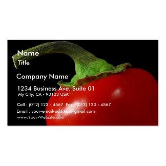 Troncos del rojo de las pimientas tarjetas de visita