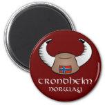 Trondheim Norway Viking Hat Fridge Magnet