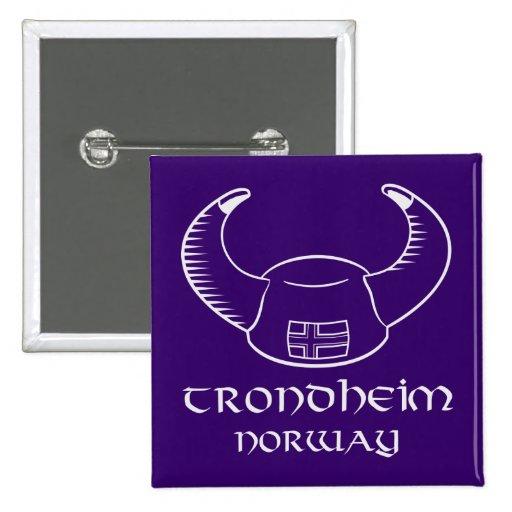 Trondheim Norway Viking Hat Pin
