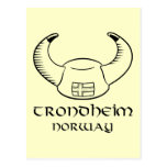 Trondheim Norway Viking Hat Post Card
