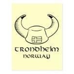 Trondheim Norway Viking Hat Postcard
