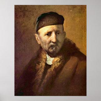 �Tronie� de un viejo hombre de Rembrandt Impresiones