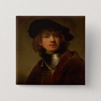 Tronie' of a Young Man with Gorget and Beret Pinback Button