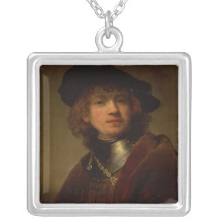 Tronie' of a Young Man with Gorget and Beret Silver Plated Necklace