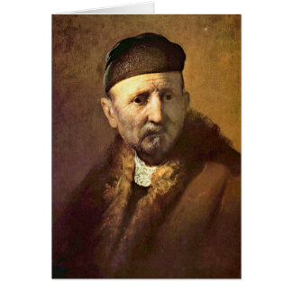 �Tronie� Of An Old Man By Rembrandt Card