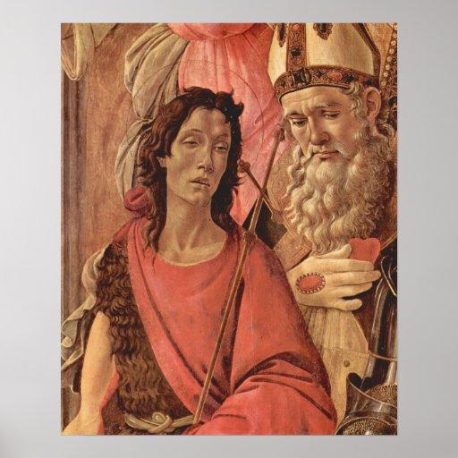 Trono de Botticelli-Madonna de ángeles y de santos Impresiones