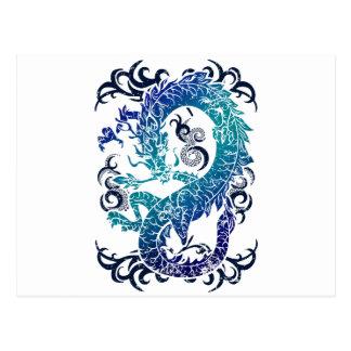 Trono del dragón de la fantasía tarjetas postales